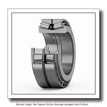 190 mm x 260 mm x 45 mm  skf 32938/DF Matched Single row tapered roller bearings arranged face-to-face