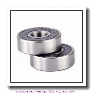 timken 618/4-2RZ Miniature Ball Bearings (600, 610, 620, 630)