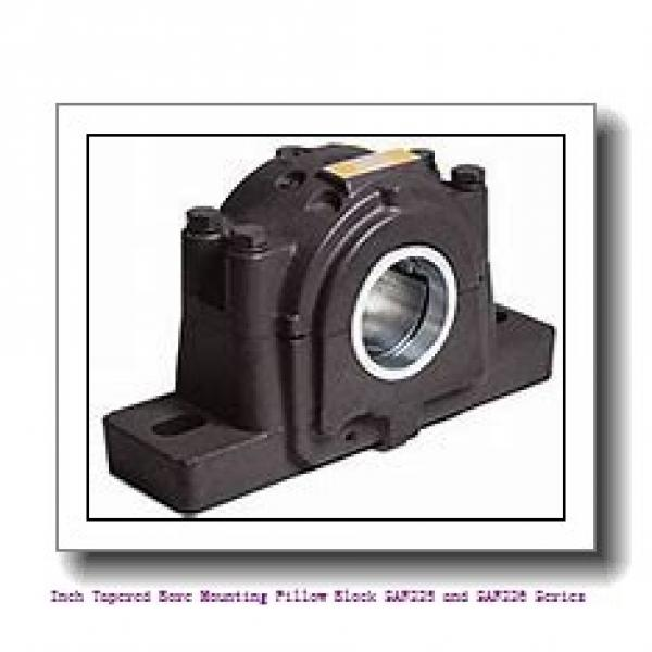 6.438 Inch | 163.525 Millimeter x 3.5000 in x 31.2500 in  timken SAF 22636 Inch Tapered Bore Mounting Pillow Block SAF225 and SAF226 Series #1 image