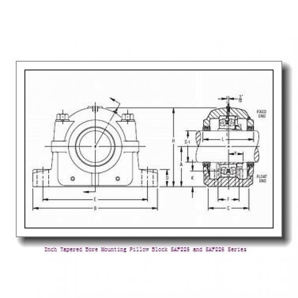 timken SAF 22624 4-1/8 Inch Tapered Bore Mounting Pillow Block SAF225 and SAF226 Series #1 image
