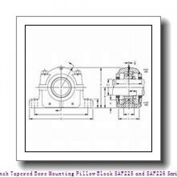 timken SAF 22626 4-3/8 Inch Tapered Bore Mounting Pillow Block SAF225 and SAF226 Series #1 image